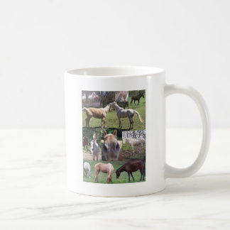 Pferdecollage Kaffeetasse