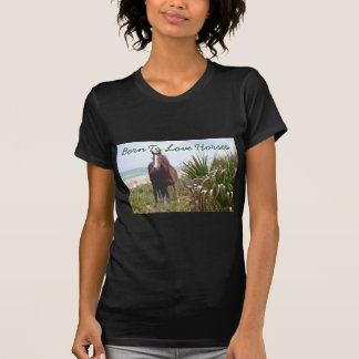 Pferdedamen-T - Shirt-Strand T-Shirt