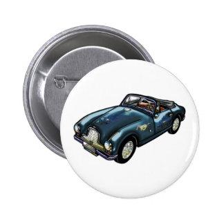 Pferdeemblem auf klassischem Sport-Auto Runder Button 5,7 Cm