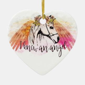 Pferdeengels-Weihnachtsverzierung Keramik Ornament