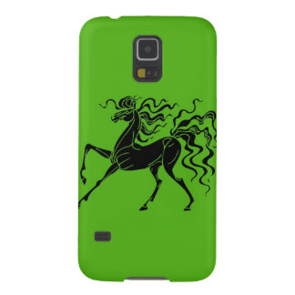 Pferdeentwurf mit dem verrückten Haar Galaxy S5 Cover