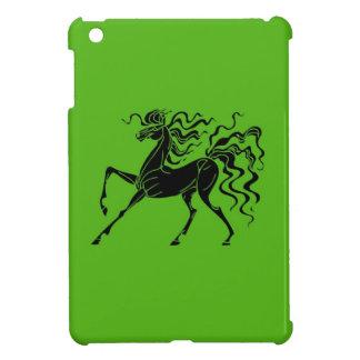 Pferdeentwurf mit dem verrückten Haar iPad Mini Hülle