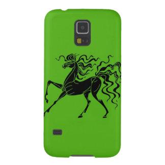Pferdeentwurf mit dem verrückten Haar Samsung S5 Hülle