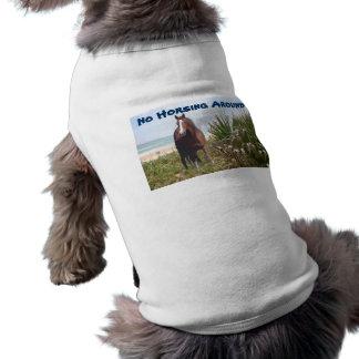 Pferdeentwurfs-Haustier-Kleidung Ärmelfreies Hunde-Shirt