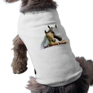 Pferdefreund-Haustier-Kleidung Ärmelfreies Hunde-Shirt