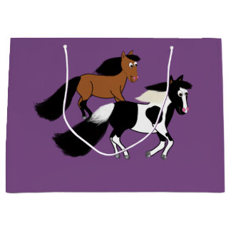 Pferdegeburtstags-Party-Tasche Große Geschenktüte