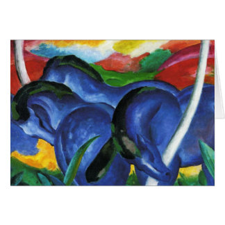 Pferdegruß-Karte Franz Marcs blaue
