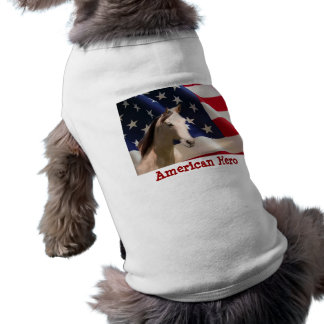 Pferdehaustier-Kleidungs-amerikanische Flagge Haustier T-shirt