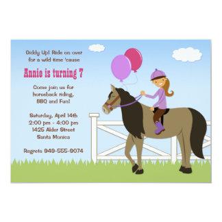 Pferdehintere Reitgeburtstags-Party Einladung
