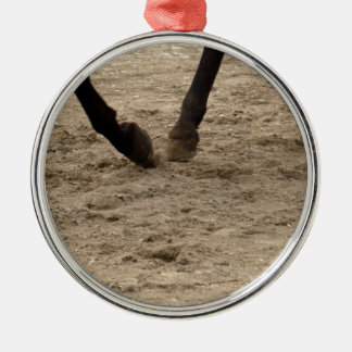 Pferdehufe Silbernes Ornament
