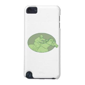 Pferdejockey-laufendes ovales Zeichnen iPod Touch 5G Hülle