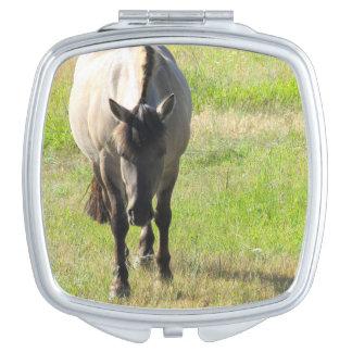 Pferdekompakter Spiegel Taschenspiegel