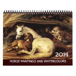 PFERDEKunst-SAMMLUNG 2017 Malerei-Zeichnungen Abreißkalender