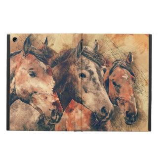 Pferdekünstlerisches Aquarell malend dekorativ