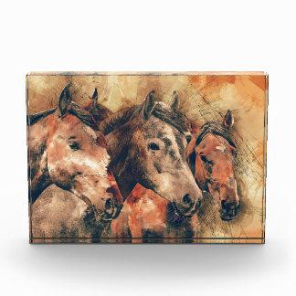 Pferdekünstlerisches Aquarell malend dekorativ Auszeichnung