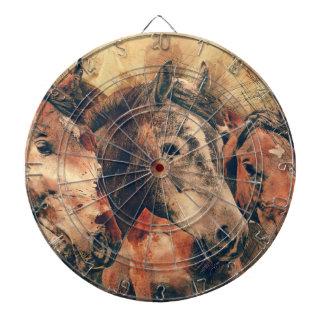 Pferdekünstlerisches Aquarell malend dekorativ Dartscheibe