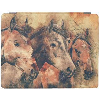 Pferdekünstlerisches Aquarell malend dekorativ iPad Hülle