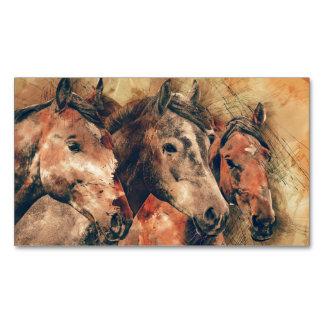 Pferdekünstlerisches Aquarell malend dekorativ Magnetische Visitenkarten