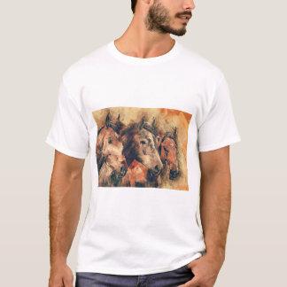 Pferdekünstlerisches Aquarell malend dekorativ T-Shirt