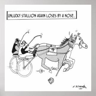 PferdelaufenCartoon 3123 Poster