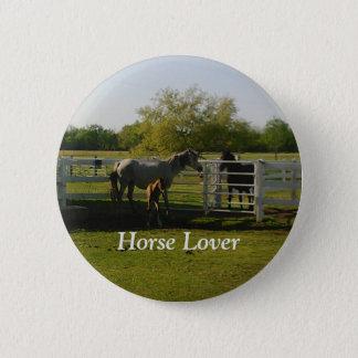 Pferdeliebhaber-Button Runder Button 5,7 Cm