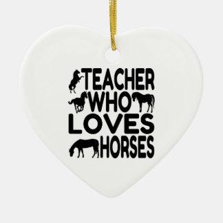 Pferdeliebhaber-Lehrer Keramik Herz-Ornament