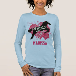 Pferdeliebhaber personalisiertes Marissa Langarm T-Shirt