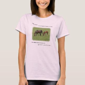 Pferdeliebhaber-Schrifts-T-Stück T-Shirt