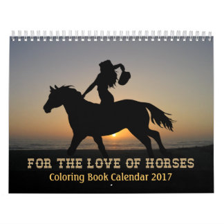 PferdeMalbuch-Kalender 2017 Kalender