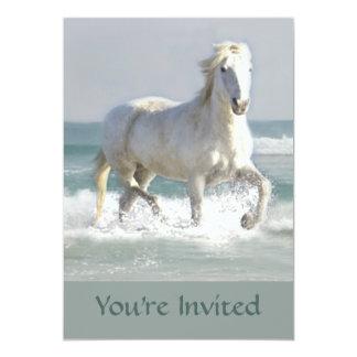 Pferdeozean-Schönheits-Einladung 12,7 X 17,8 Cm Einladungskarte