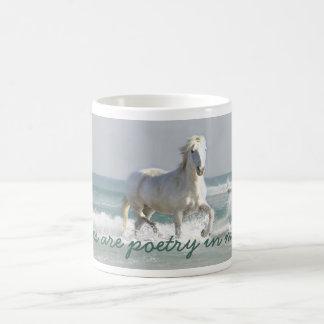 Pferdeozean-Schönheits-Tasse
