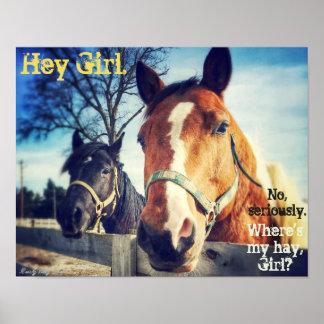 """Pferdeplakat: """"He Mädchen. """" Poster"""