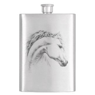 Pferdeporträtbleistift, der Kunst Flasche zeichnet Flachmann
