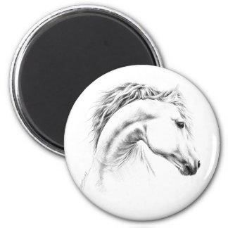 Pferdeporträtbleistift, der Magneten zeichnet Runder Magnet 5,7 Cm