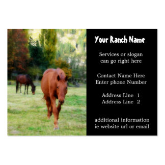 Pferderanch oder -bauernhof-Versorgungs-Visitenkar Jumbo-Visitenkarten