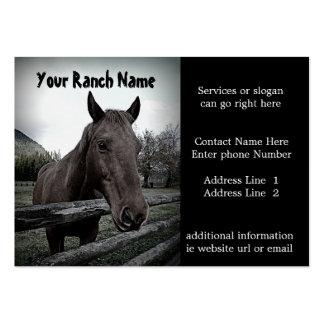 Pferderanch oder -bauernhof-Versorgungs-Visitenkar Mini-Visitenkarten
