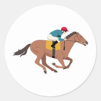 Pferdereiter Kentuckys Derby Runder Aufkleber