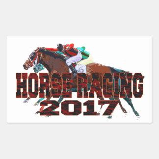 Pferderennen 2017 rechteckiger aufkleber