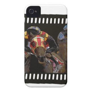 Pferderennen auf Film-Streifen iPhone 4 Cover