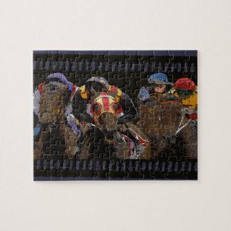 Pferderennen auf Film-Streifen Puzzle