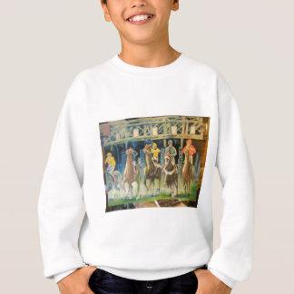Pferderennen durch Hirsch 002 Sweatshirt