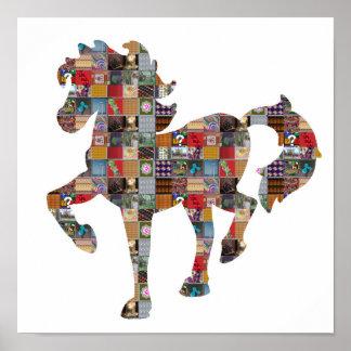 Pferderennen-Glücksspiel-künstlerisches Poster