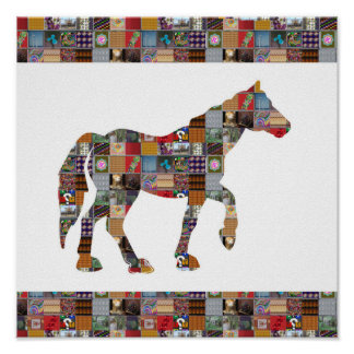 Pferderennen ha-tierische künstlerische poster