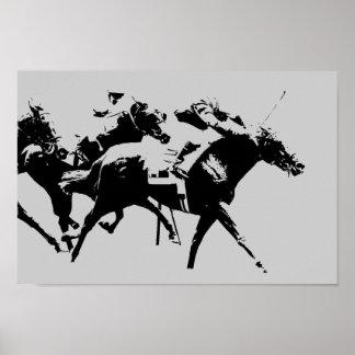 Pferderennen-Plakat Poster