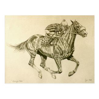 Pferderennen-Postkarte Postkarte