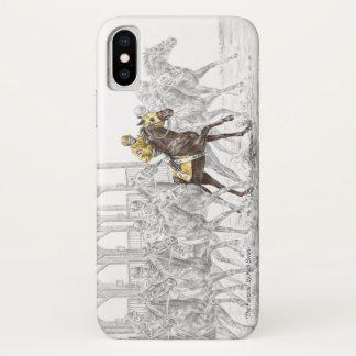 Pferderennen-Startmaschine iPhone X Hülle