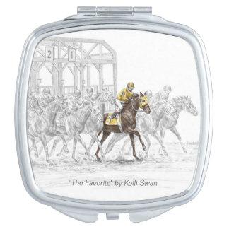 Pferderennen-Startmaschine Taschenspiegel