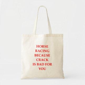 Pferderennen Tragetasche