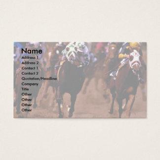 Pferderennen Visitenkarte