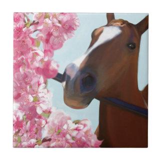 Pferderosa Blüten Kleine Quadratische Fliese